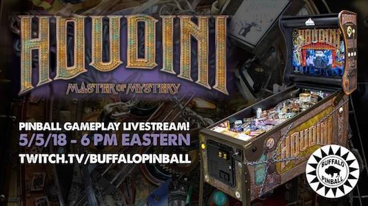 Watch Houdini Live with Our Friends at Buffalo Pinball